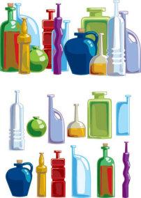 素材/各种款式瓶子矢量素材2