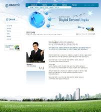 模板/韩国精美科技教育网页PSD模板