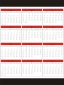 2011年矢量年历表图片