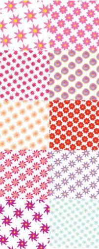 粉色花纹边框矢量图