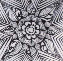 黑白装饰花卉图案设计