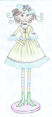 时尚手绘田园风工艺品插画系列002