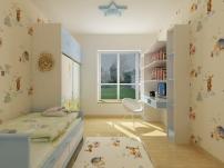 效果图 矢量/室内设计效果图小孩房