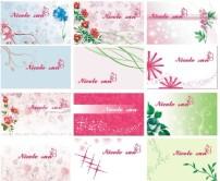 背景 素材/典雅花卉名片卡片设计