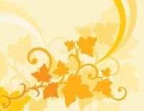 素材 花纹/黄色矢量背景素材EPS