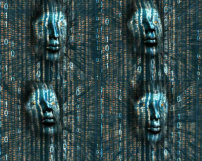 动态 背景 人脸/高科技数字底纹人脸背景动态视频素材