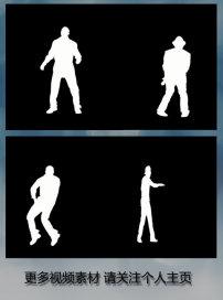 动态 背景 人物 跳舞/十款黑白剪影男子跳舞背景动态视频素材