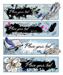 素材/涂鸦banner—矢量素材