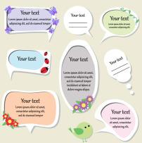 素材 对话框/可爱对话框素材矢量