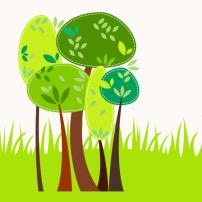 花瓣 模板 小草 绿叶/绿叶和小草