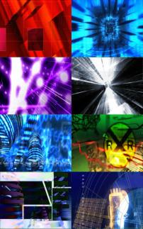素材 花纹/8款不同效果数字科技光芒光效动态视频素材