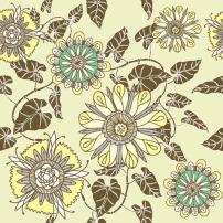素材 花朵/矢量素材花朵线条图案...