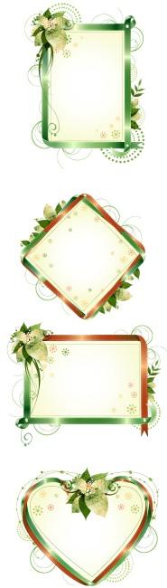 矢量图欧式木质相框边框
