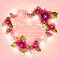 背景 矢量/浪漫鲜花花边矢量图