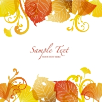 素材 边框 枫叶 秋季/矢量秋季枫叶边框装饰设计素材