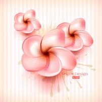 背景/矢量粉色花朵背景素材