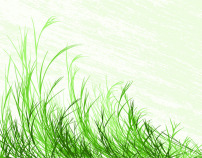 素材 绿色植物/绿色植物草丛矢量素材