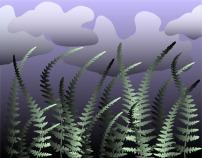 背景/矢量绿色植物丛背景素材