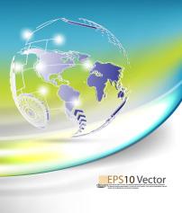 背景 地图 矢量/矢量动感科技地球背景素材