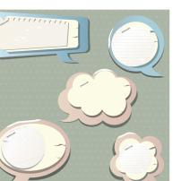 素材 南通市/矢量个性纸质对话框素材