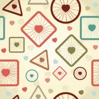 卡通 背景 素材/矢量卡通几何图形背景素材...