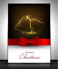 设计 邀请/圣诞节邀请卡矢量图