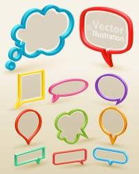 图案 font/矢量精美个性对话框素材
