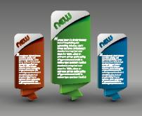 素材/网页设计立体标签对话框矢量素材