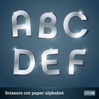 剪纸 星光/星光剪纸英文字母艺术字