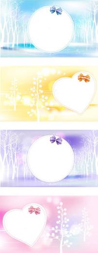 多彩气泡花纹背景图片