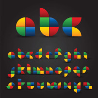可爱 英文字母/五颜六色折纸英文字母