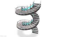 楼梯/旋转楼梯3D模型