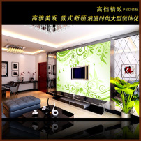 清新/动感绿色时尚清新背景墙
