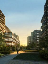 tf49高层住宅建筑设计效果psd