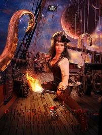 写真 模板图片/加勒比海盗魔幻创意海报写真模板图片...