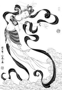 刘公华白描人物-032 飞天   已下载   次   次   已下载
