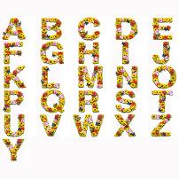 创意 设计 字体/创意字母艺术字体设计...