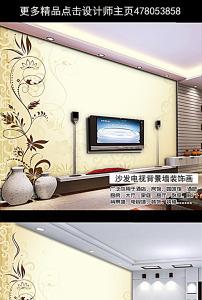 图案 花边 花纹/欧式复古手绘花纹电视背景墙
