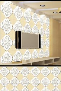 唯美欧式花纹边框艺术电视背景墙装饰画