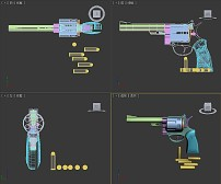 三维模型/左***手***型兵器模型三维模型...
