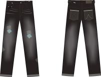 小狗 布匹/休闲牛仔裤