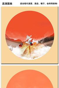 中国风水墨无框画