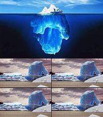 素材/南极大海浮冰视频背景素材