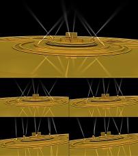 透明 通道/金黄舞台灯光带alpha透明通道高清视频