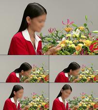国外美女模特唱歌背景视频