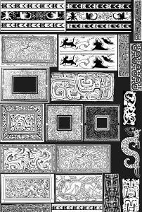 龙凤古代字体图案纹样花图片
