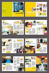 国外风格版式排版画册模板图片