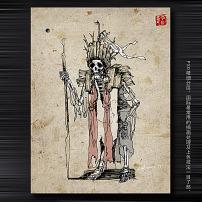 死神 骷髅/骷髅死神插画图片下载