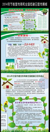 2014全国节能宣传周低碳日活动展板