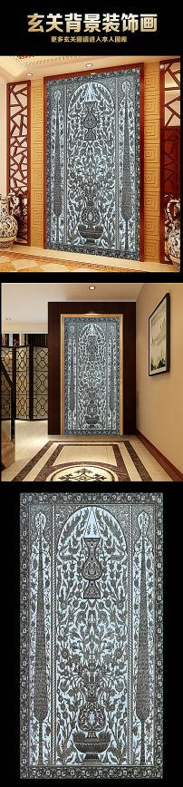 古典欧式花纹玄关装饰画